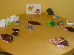 Óbudai Origami Kör foglalkozása