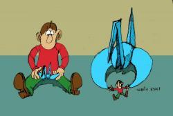 Origamis viccek, karikatúrák