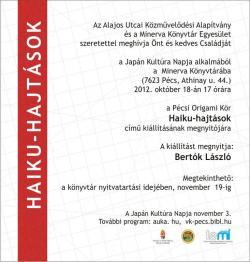Haiku-hajtások kiállítás