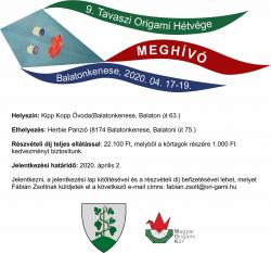 Origami hétvége 2020. április 17-19. - Balatonkenese - ELMARAD