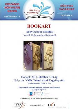 Bookart - könyvszobor kiállítás