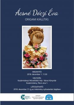 Ácsné Dóczi Éva origami kiállítása Kozármislenyben