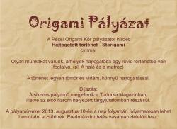 Hajtogatott történet - Storigami - Origami pályázat