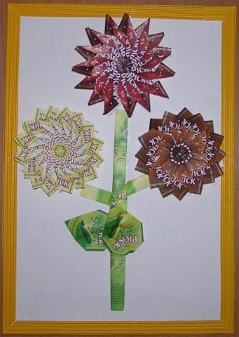 Maradék teatasakból készült virág feje