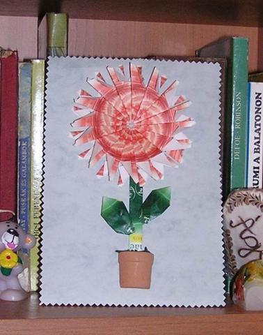 Maradék teatasakból készült virág