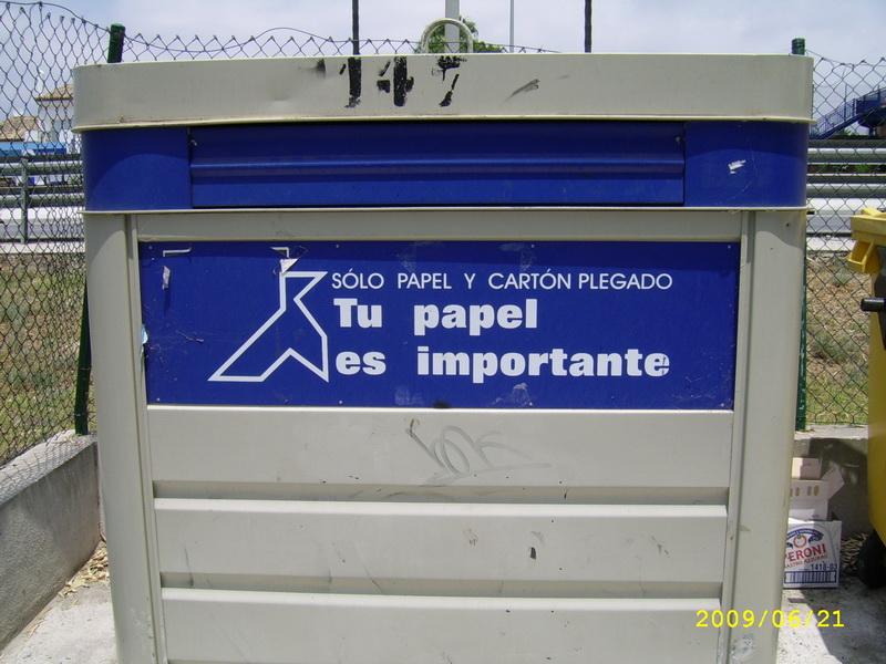 Spanyol szelektív hulladék gyűjtő
